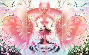 Картинка девушка, игра, аниме, арт, розовый цвет, Persona 4, персона