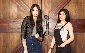 Картинка взгляд, девушки, куртка, модели, Kendall And Kylie Jenner