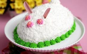 Картинка праздник, кролик, салат