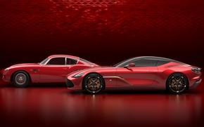 Картинка Aston Martin, суперкар, вид сбоку, Zagato, 2019, DBS GT