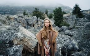 Картинка девушка, камни, Крым, Потлов Сергей