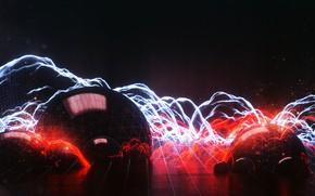 Картинка Стиль, Фон, Арт, Графика, Art, Style, Neon, Рендеринг, Rendering, Graphics, Retrowave, Synthwave, New Retro Wave, …