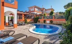 Картинка вилла, бассейн, Португалия, архитектура, терраса, Portugal, villa Ribeiro
