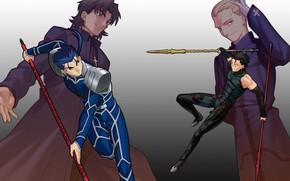 Картинка лансер, слуги, копейщики, мастера, Судьба ночь схватки, Судьба начало, Fate / Stay Night, Fate / …