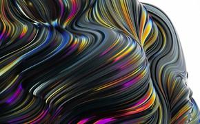 Картинка волны, линии, краски, объем