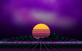 Картинка Музыка, Фон, 80s, Neon, 80's, Synth, Retrowave, Synthwave, New Retro Wave, Futuresynth, Синтвейв, Ретровейв, Outrun, …