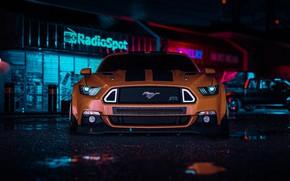 Картинка Mustang, Ford, Авто, Белый, Машина, Стиль, Car, NFS, Арт, Style, Ford Mustang RTR, Need For …