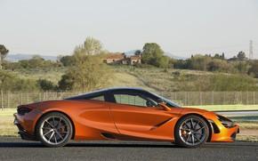 Картинка McLaren, суперкар, вид сбоку, Coupe, 2017, 720S