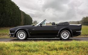 Картинка Black, Вид сбоку, Aston Martin V8 Vantage Volante