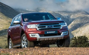 Картинка Ford, Everest, Limited, 4WD, 2015, на фоне гор