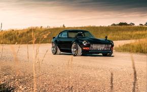 Картинка дорога, дизайн, стиль, спортивная, Nissan, Автомобиль, Datsun, передок, 240z 6