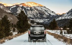 Картинка вид сзади, 2018, GMC, SUV, Denali, Yukon