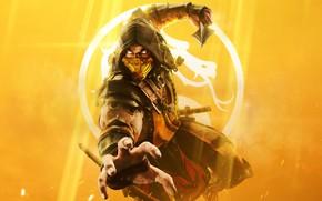 Картинка игра, game, Mortal Kombat, scorpion, Mortal Kombat 11