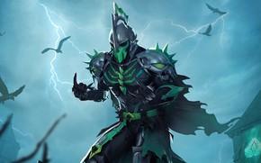 Картинка ночь, молнии, игра, вороны, game, Playerunknown's battlegrounds, Pubg, Wraith Lord