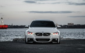 Картинка BMW, Sky, White, Evening, 330i, F80, Sight