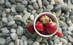 Картинка ягоды, камни, клубника, strawberry, berries, pebbles