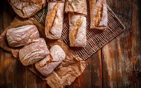 Картинка бумага, доски, хлеб, булочки, хлебобулочные изделия