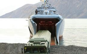 Картинка корабль, большой, учения, вмф, десантный, проект 775, адмирал невельской