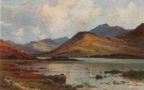 Картинка BREANSKI, LOCH QUOICH, EVENING, INVERNESS