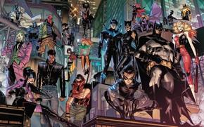 Картинка Джокер, Бэтмен, Batman, Joker, Харли Квинн, Robin, DC Comics, Робин, Harley Quinn, Комиксы