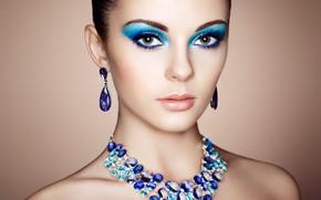 Картинка взгляд, девушка, украшения, стиль, фото, портрет, серьги, макияж, Oleg Gekman