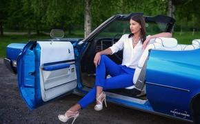Картинка поза, взгляд, украшения, Vyacheslav ivahnenko, Buick, красотка, девушка, туфли, авто, модель