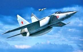 Картинка ВВС СССР, МиГ-25, Сверхзвуковой самолет, Самолёт радиотехнической разведки, МиГ-25РБТ, Высотный