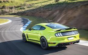 Картинка скорость, Mustang, Ford, гоночный трек, AU-spec, R-Spec, 2019, Australia version