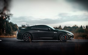 Картинка Авто, Черный, Машина, Nissan, Вид сбоку, Nissan GT-R 35, GT-R 35, Mikhail Sharov, Transport & …
