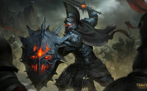 Картинка меч, щит, рыцарь, Ares, Smite