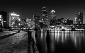 Картинка ночь, город, мегаполис, огни ночного города