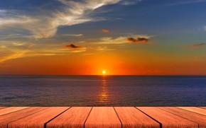 Картинка море, небо, кладка