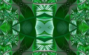 Картинка зеленый, фон, фантазия