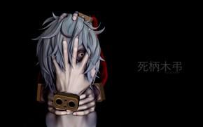 Картинка взгляд, руки, злодей, парень, My Hero Academia, Boku No Hero Academia, Моя Геройская Академия