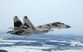 Картинка Су-35, ОКБ Сухого, ВВС России, Flanker-Е+, многоцелевой сверхманёвренный истребитель, поколение 4++