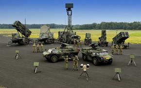 Картинка gun, soldier, weapon, man, army, Netherlands, radar, armored, seifuku, air defense, radar TRML-3D/32, radar MIM-104 …