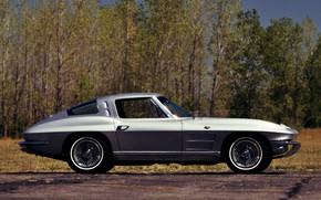 Картинка Corvette, Stingray, Silver