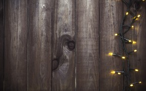 Картинка фон, дерево, Новый Год, Рождество, гирлянда, Christmas, wood, background, New Year, Merry