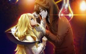 Картинка девушка, коса, парень, двое, Ангел кровопролития, Satsuriku no Tenshi
