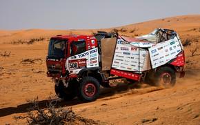 Картинка песок, пустыня, грузовик, ралли, 500, Ranger, 2021, Hino