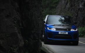 Картинка скала, Land Rover, Range Rover, Range Rover Sport, 2018, SVR, V8, 575 л.с., 5.0 л., …