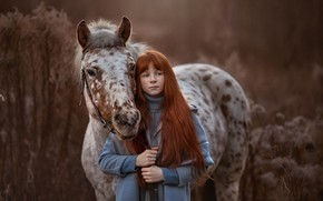 Картинка лошадь, девочка, веснушки, Arma Gray