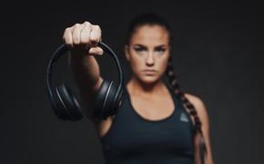 Картинка woman, headphones, hand