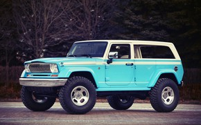Картинка Blue, Jeep, Off Road