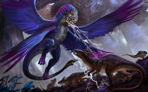 Картинка животные, крылья, существо
