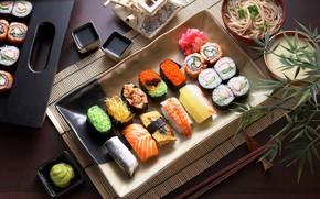 Картинка рыба, суп, соус, суши, ассорти, сашими, лапшп