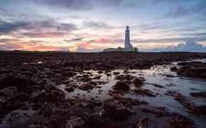 Картинка England, St Mary's Lighthouse, Tyneside