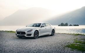 Картинка авто, белый, Maserati, Quattroporte, металлик, GTS, 2019, GranSport