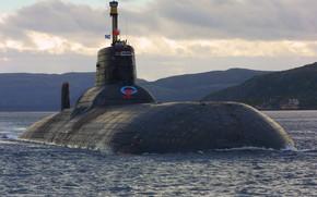 Картинка подводный, крейсер, тяжелый, атомный, ракетный, назначения, стратегического, проект 941, Северсталь, шифр Акула