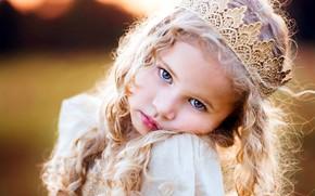 Картинка взгляд, девочка, принцесса